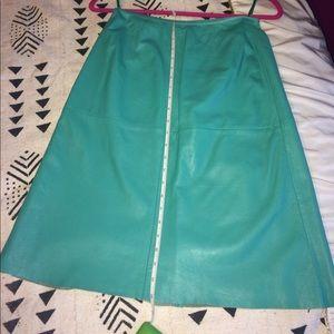 Banana Republic Genuine leather skirt.